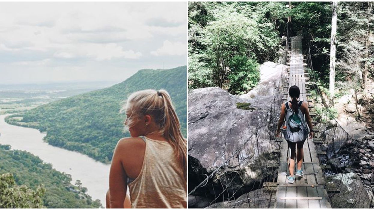 Tennessee Hike With A View Leads To A Daring 100-Foot Long Suspension Bridge