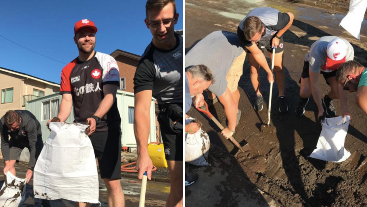 """Canada's Rugby Team Typhoon Clean Up Was An """"Emotional"""" Experience For The Players"""