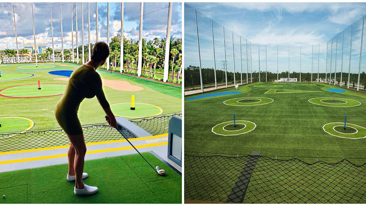 This New 3-Story Driving Range Just Opened Near Miami & It's A Golfer's Paradise