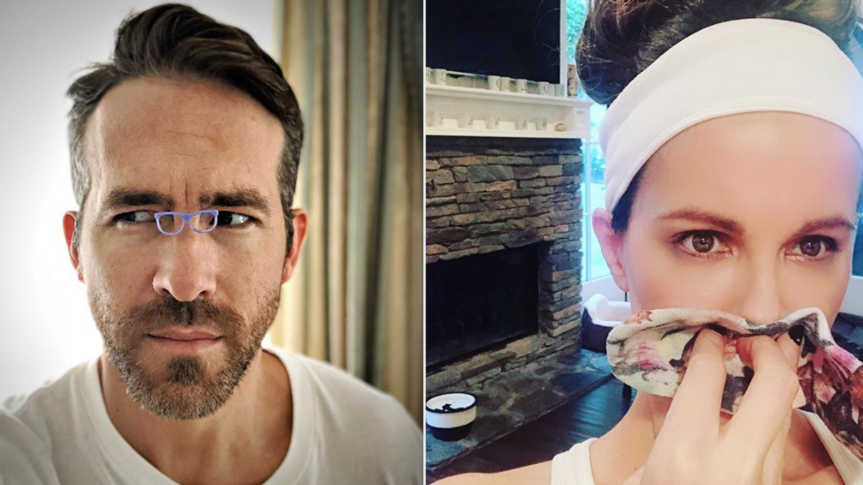 """The hilarious Ryan Reynolds posted a response today to Kate Beckinsale's claim that the two are """"doppelgangers"""" while on The Tonight Show Starring Jimmy Fallon. During the interview, Beckinsale said she looks """"exactly like Ryan Reynolds."""" Obviously, the internet immediately ate that up and it wasn't long enough until Ryan Reynolds posted a hilarious response to her claim that they're twins."""