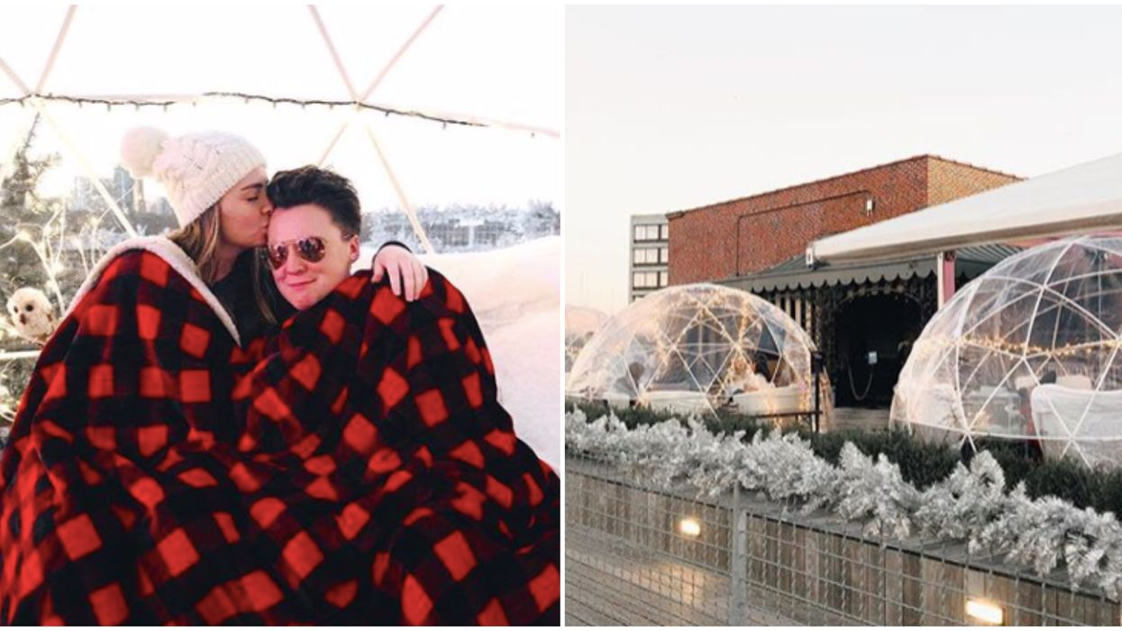 Rooftop Bar In Atlanta Has Huge Igloos To Rent Next Month & They're Nice & Toasty