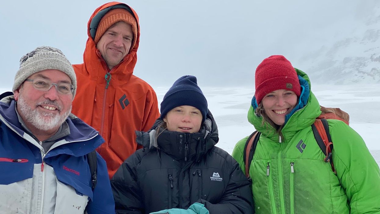 Greta Thunberg's Alberta Visit Included Seeing A Glacier In A Blizzard Which Is So Badass