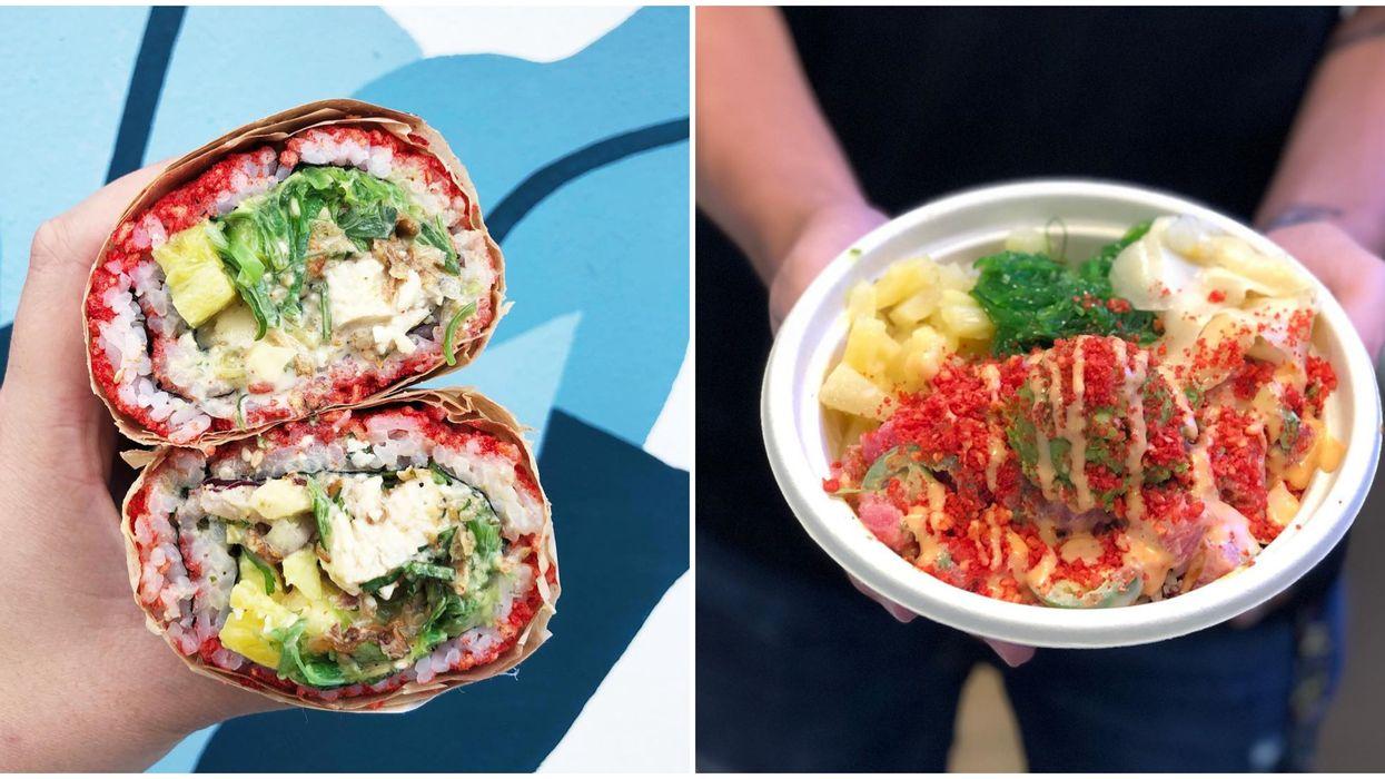Sushi Spots Near Miami Include Poke Lab Eatery And Their Flamin Hot Cheeto Sushiritos