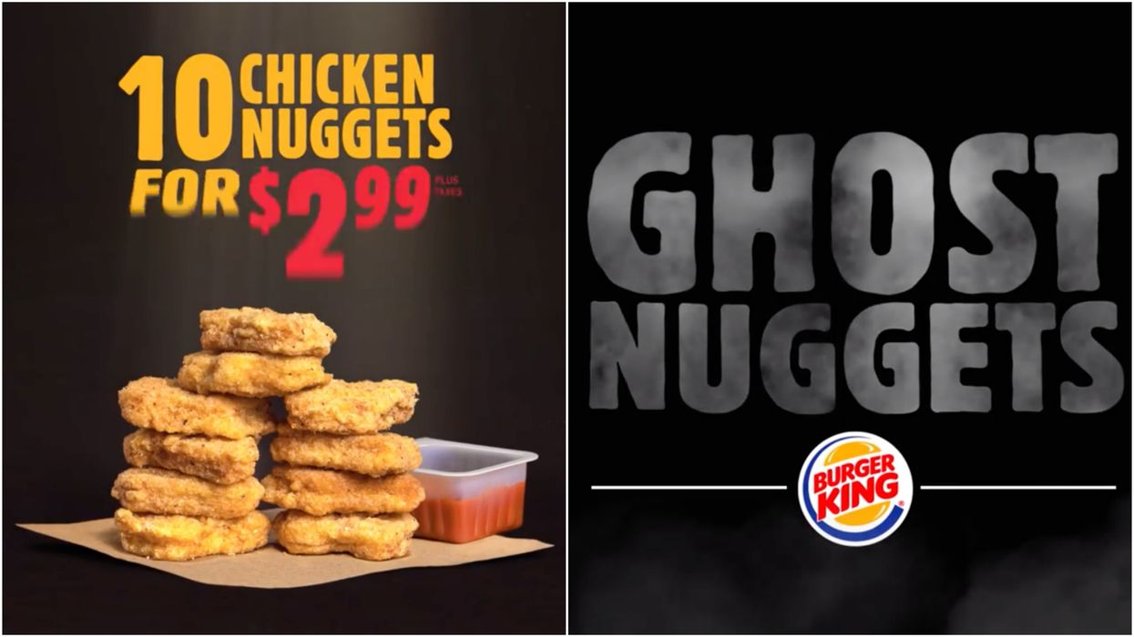 """Burger King Canada Has """"Ghost Nuggets"""" For Halloween But They're Not What You Think"""