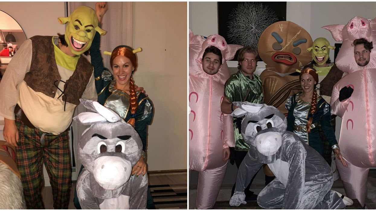 Funny Vancouver Canucks Halloween Costumes: 6 Players Dressed Up Like Shrek Characters
