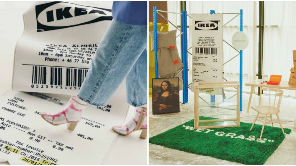 You Can Buy A Rug That Looks Like A Giant IKEA Receipt In Canada This Week