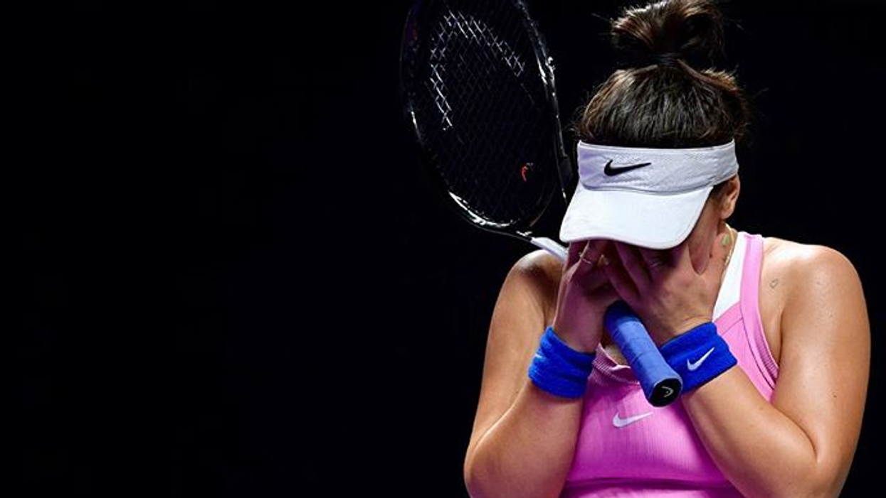 Bianca Andreescu's WTA Finals Game Ended Prematurely After She Twisted Her Knee