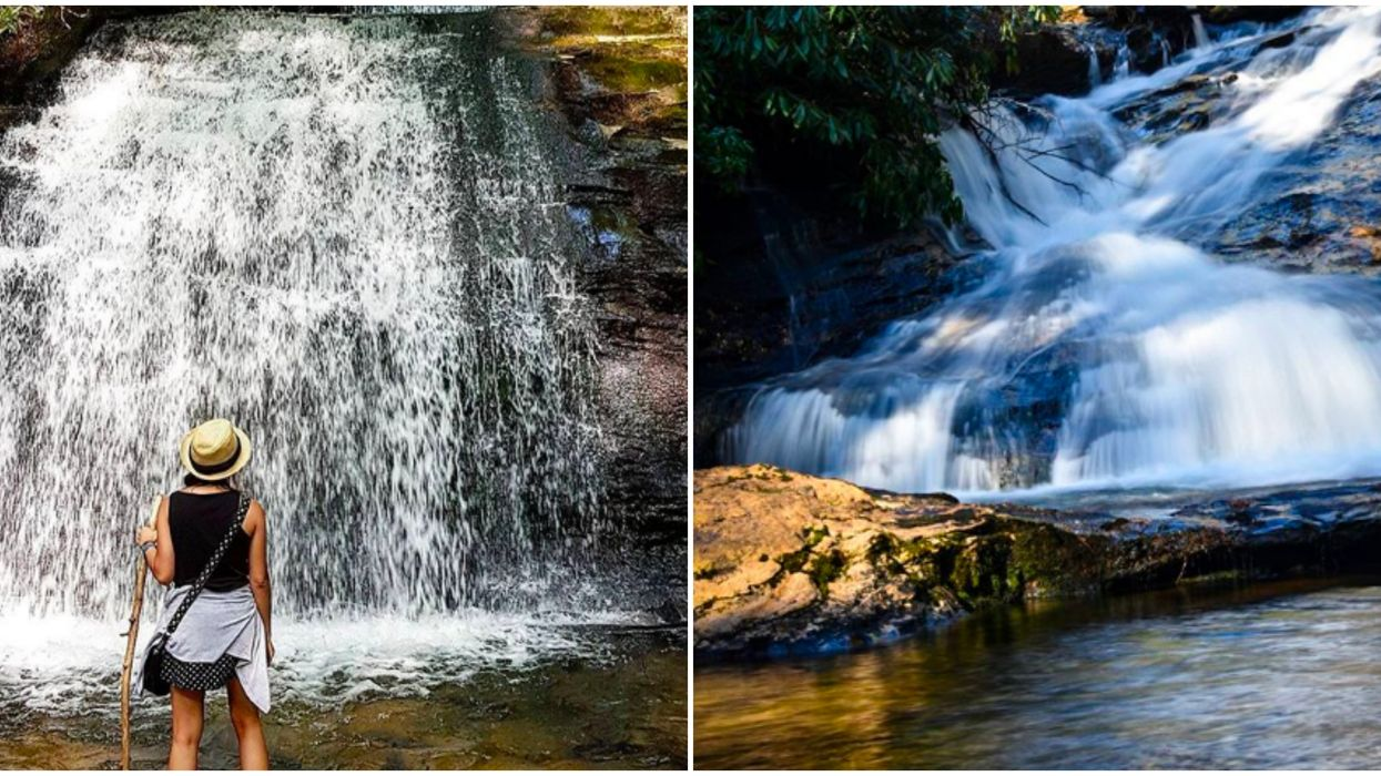 Easy Hike In Georgia Leads To A 50-Foot Double Waterfall