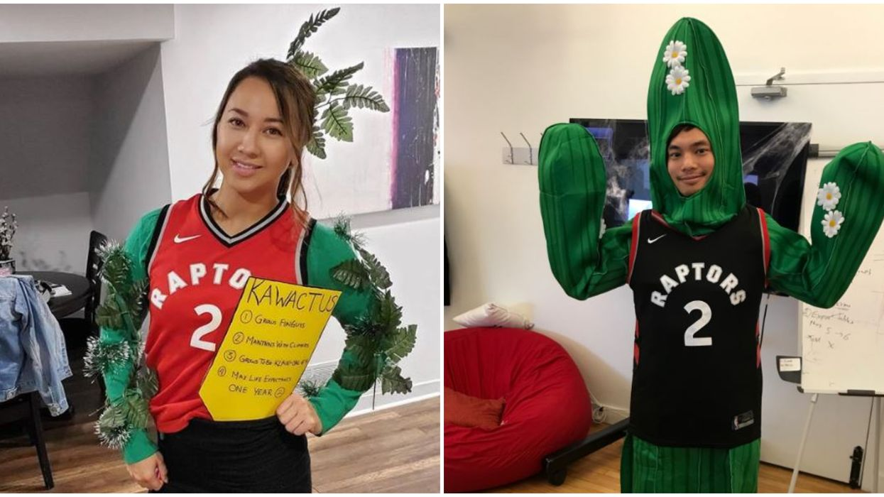 Toronto Halloween Costumes Didn't Come Any Better in 2019 Than The Kawhi Cactus