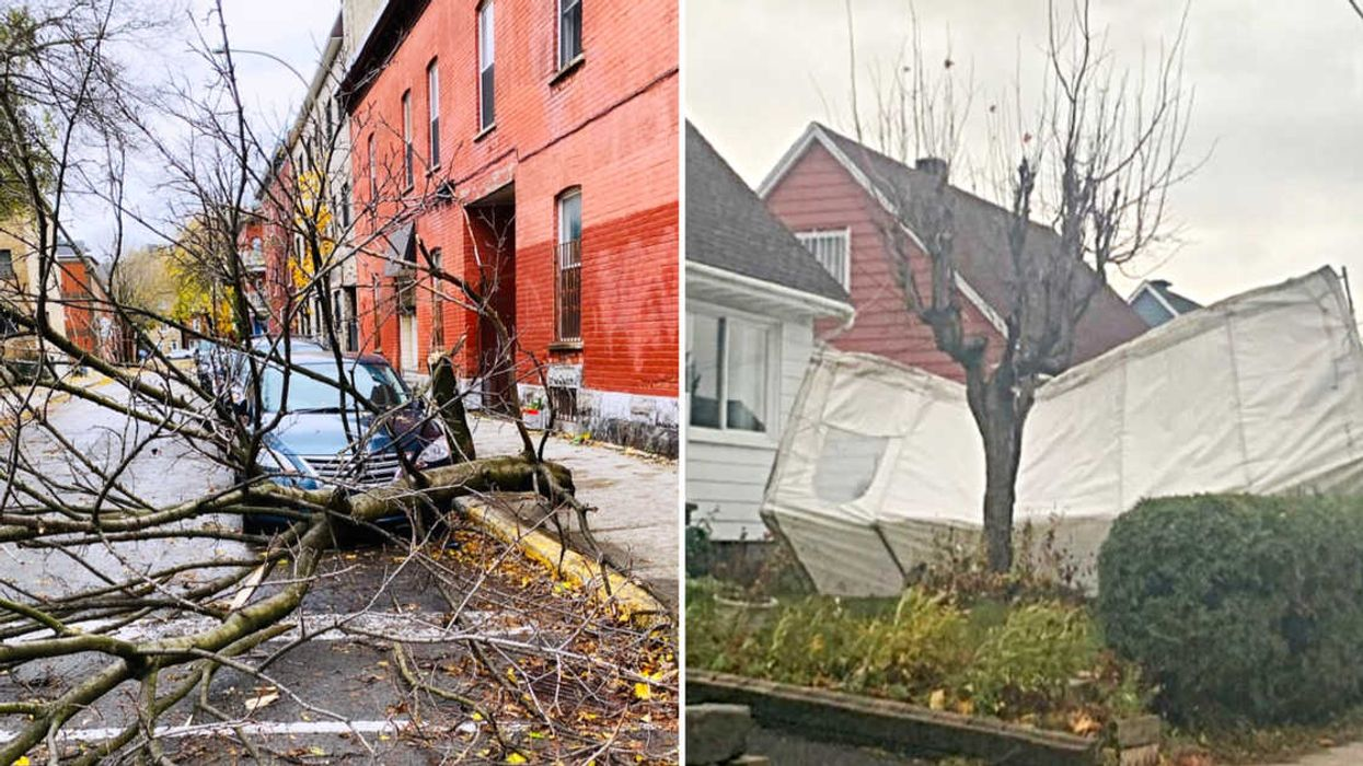 Toutes les photos saisissantes des dégâts de la tempête qui frappe au Québec