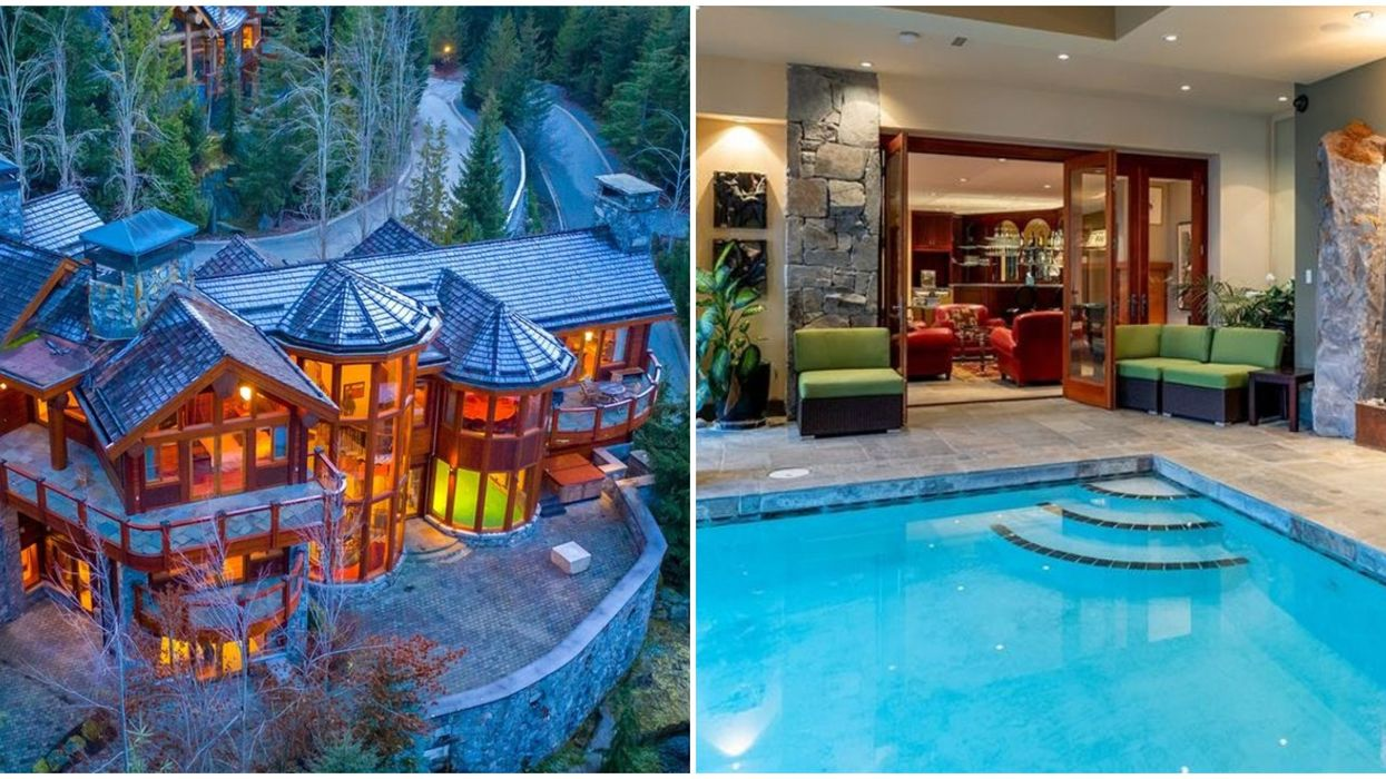 BC Chalet For Sale With An Indoor Pool Looks Like A Castle (PHOTOS)