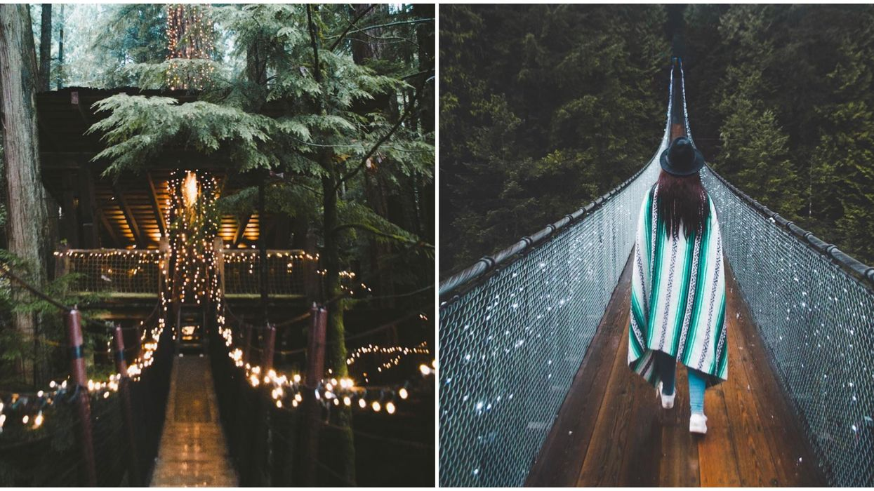 BC's Famous Suspension Bridge Will Be Covered In Thousands Of Christmas Lights This Winter