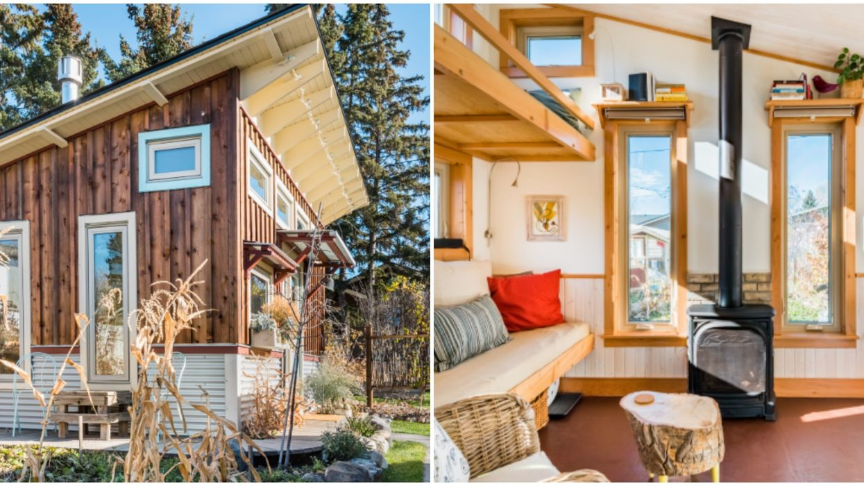 Calgary Tiny House Cabin Will Make You Feel Like You're In A Doll House