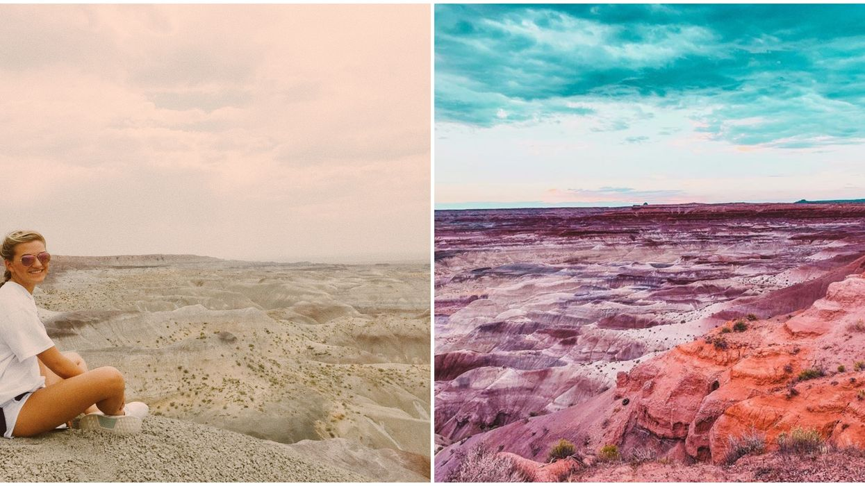 The Little Painted Desert In Arizona Has Views Of Pastel-Colored Mesas