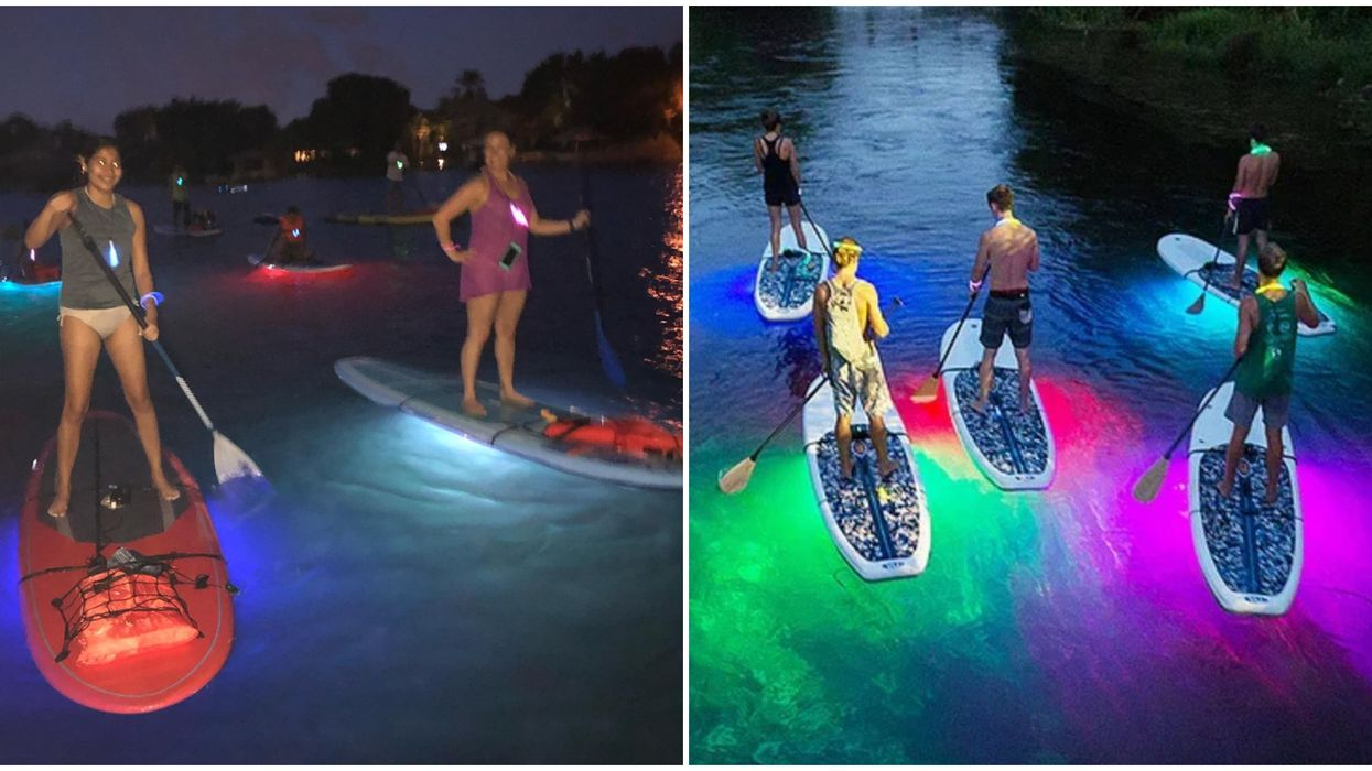 A Full Moon Is Happening This Month & You Can Enjoy It On A Glowing Paddleboard In Orlando