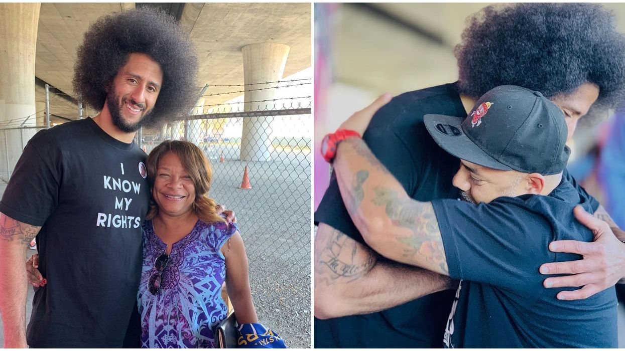 Colin Kaepernick Spends His Birthday Feeding Homeless In Oakland & Is Surprised With Cake