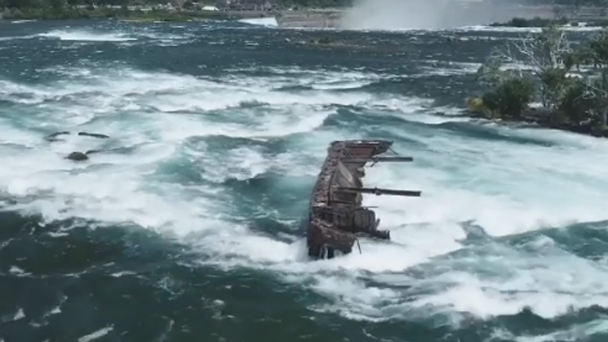 Niagara Falls Shipwreck Was Moved Closer To Edge Of The Falls During The Halloween Storm