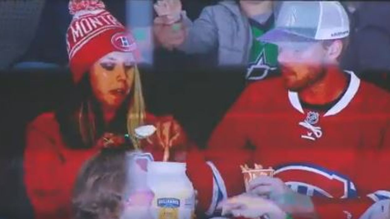 Montreal Canadiens Fans Freaked Everyone Out By Seemingly Eating Mayo From A Tub