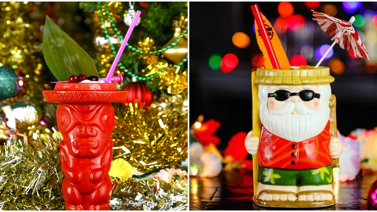 Sippin' Santa In Ottawa Is A Tiki Christmas Pop Up Bar That Will Give You Beach Vibes