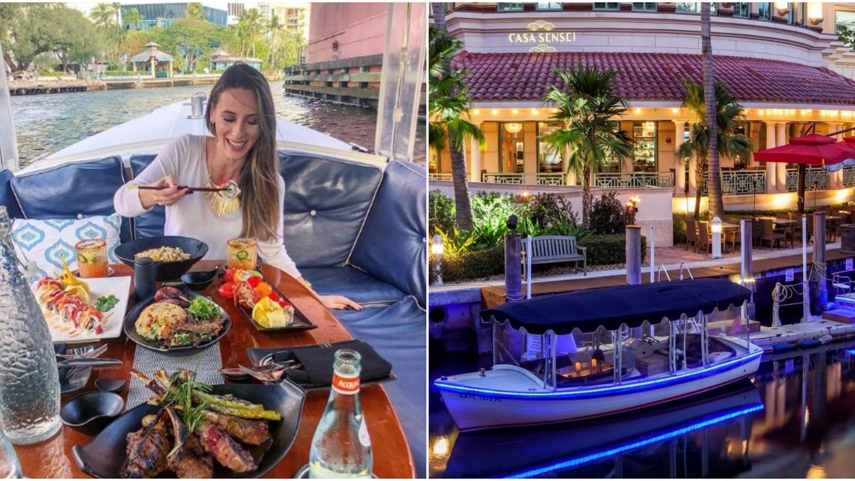 You Can Have The Most Romantic Dinner On A Gondola Ride At This Spot Near Miami