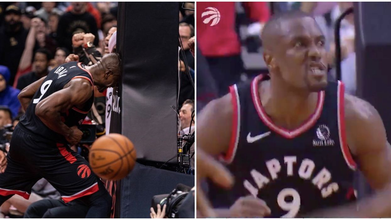 Serge Ibaka Has Turned Into A Meme After Head-Butting A Post Last Night