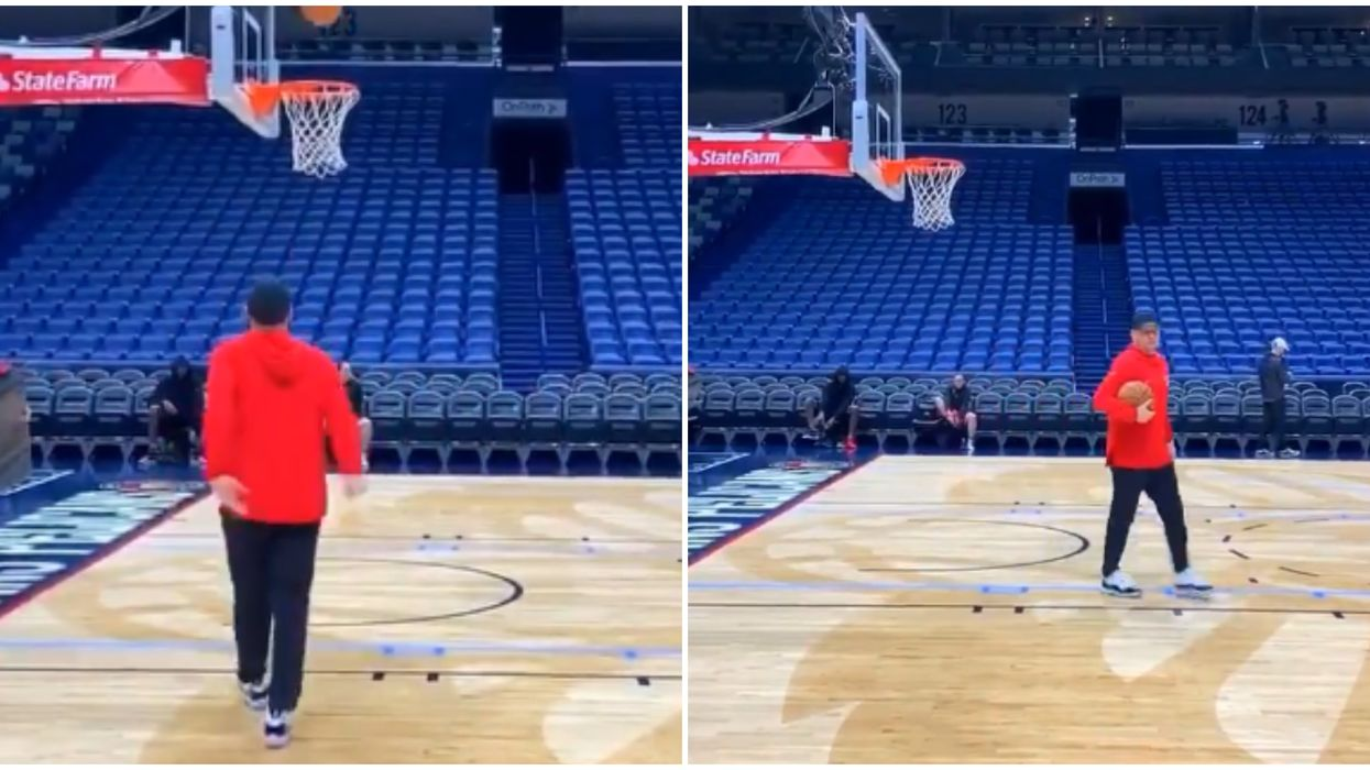 The Raptors Just Shared A Video Of Nurse Shooting Hoops & Fans Think He's Got Game