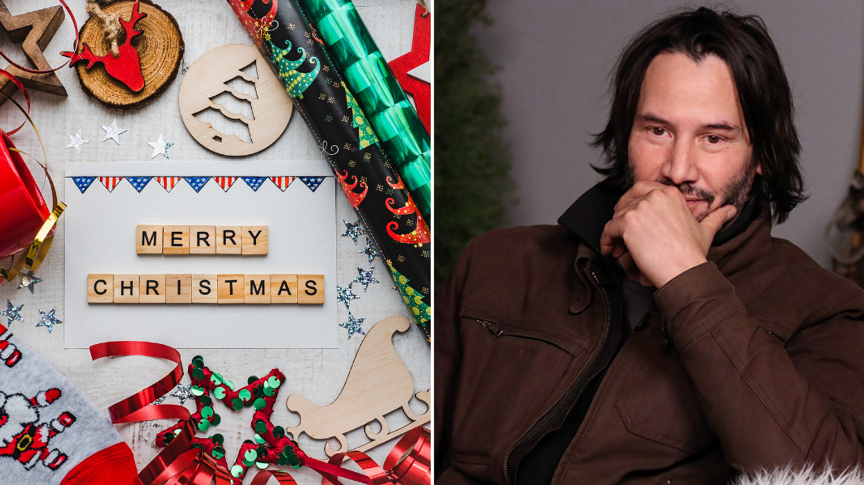 Keanu Reeves Canadian Christmas Card