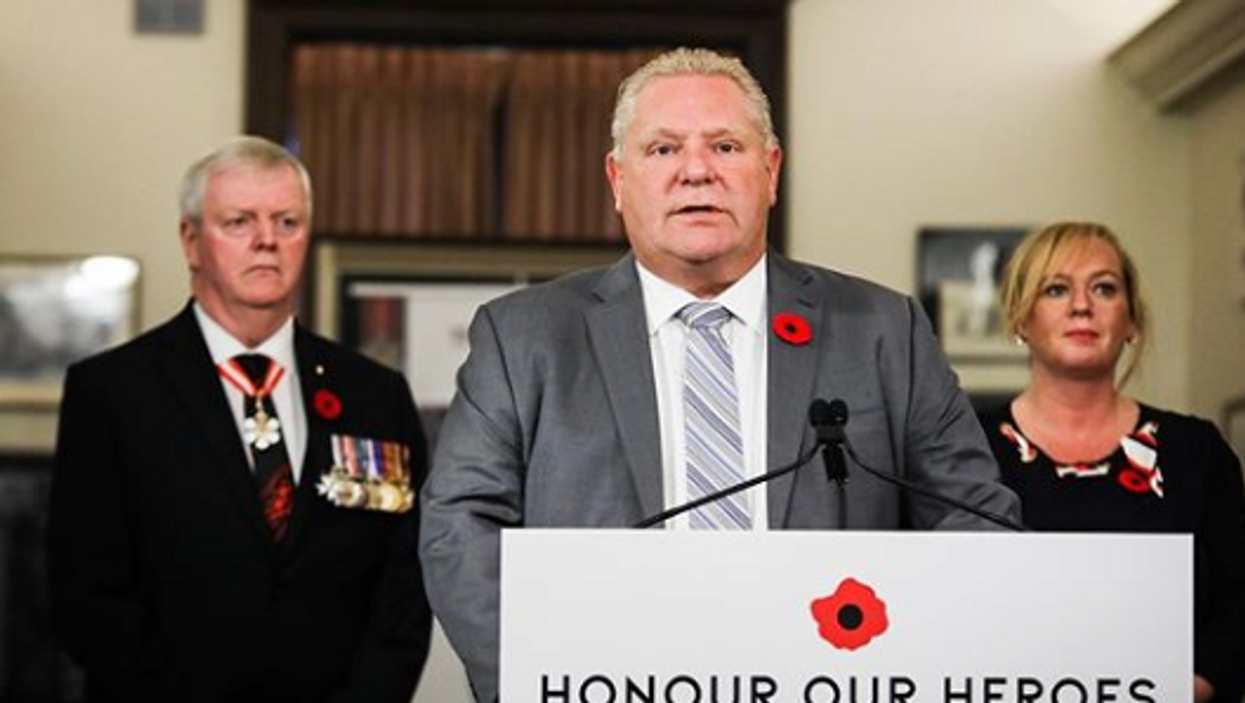 Ford's Remberance Day Remarks Are Facing Backlash