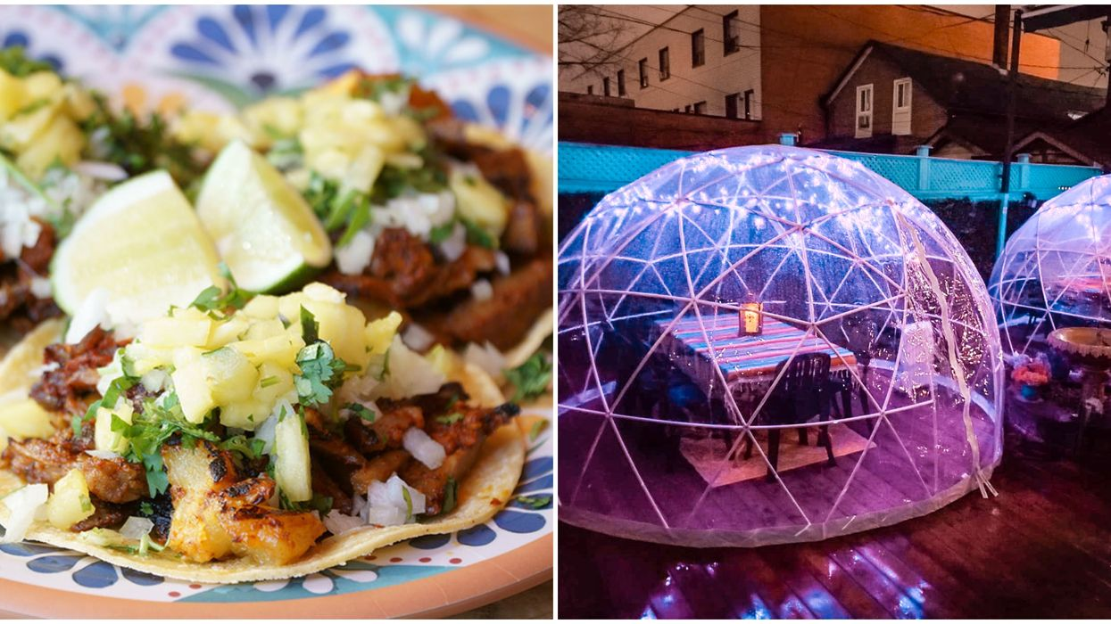 You Can Eat Tacos Inside A Glowing Igloo In Toronto This Winter
