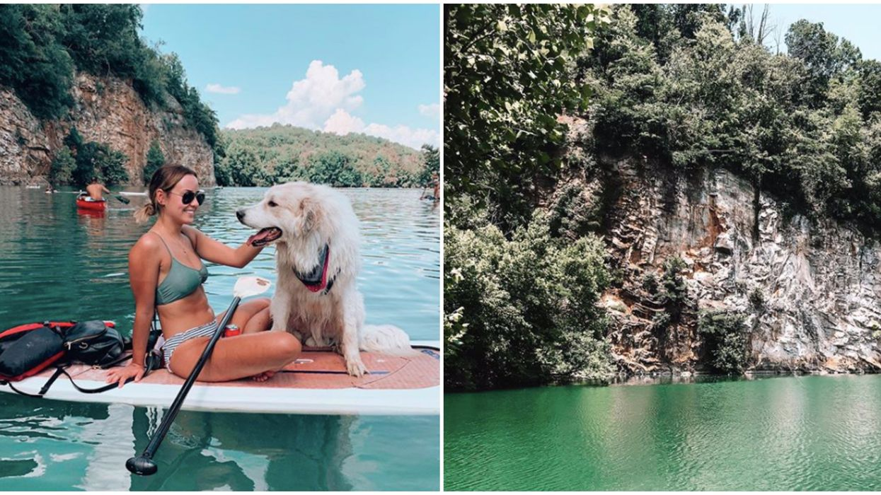 This Adventurous Spot In Tennessee Has The Bluest Quarry You Can Get In