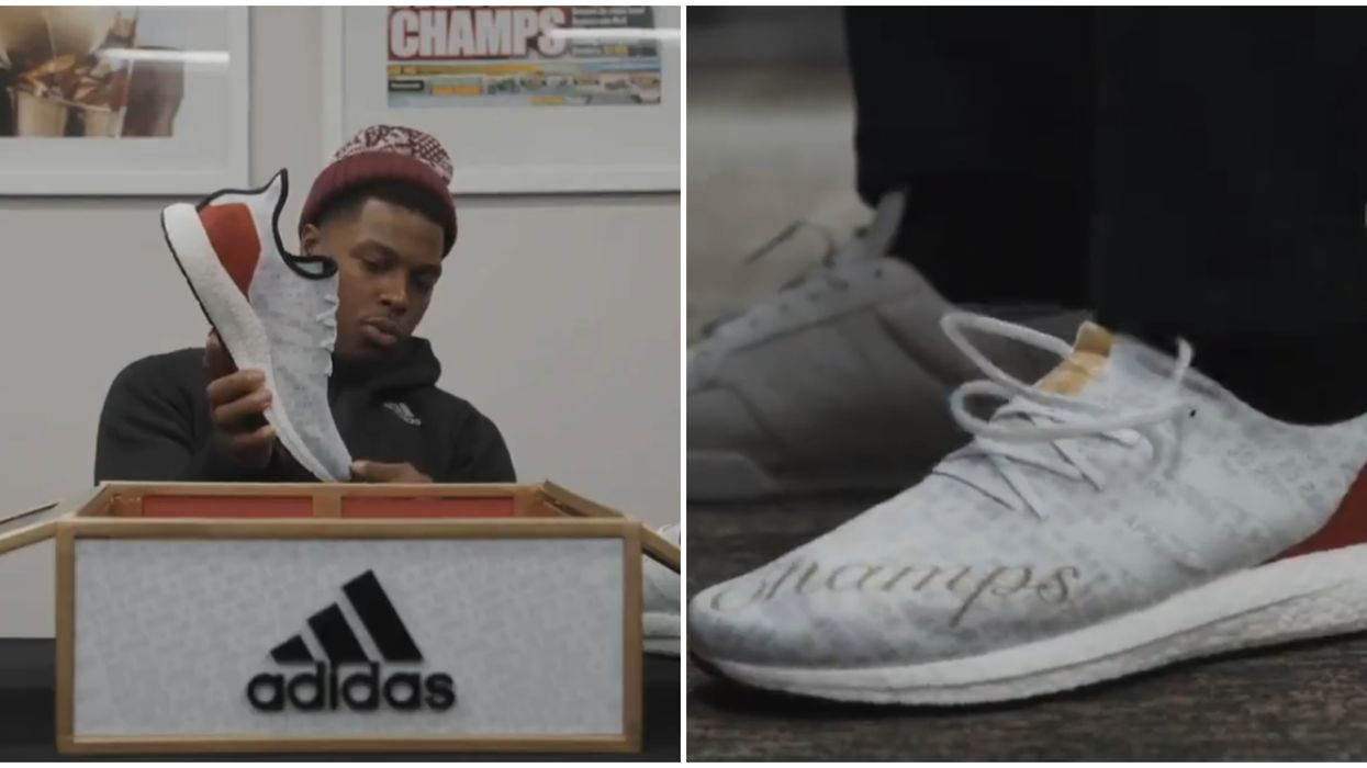 Lowry Just Revealed Adidas' New Limited Raptors Championship Shoe & Fans Are Losing It