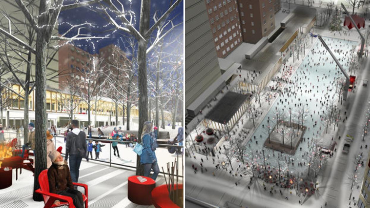 Une nouvelle patinoire extérieure géante va ouvrir à Montréal l'hiver prochain