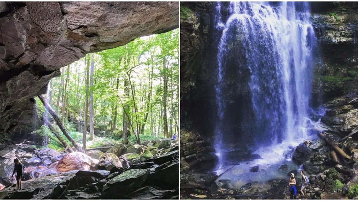 This Trail In Tennessee Has Four Waterfalls & Multiple Caves To Explore