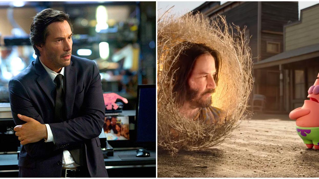 """Keanu Reeves' """"Spongebob"""" Movie Cameo"""