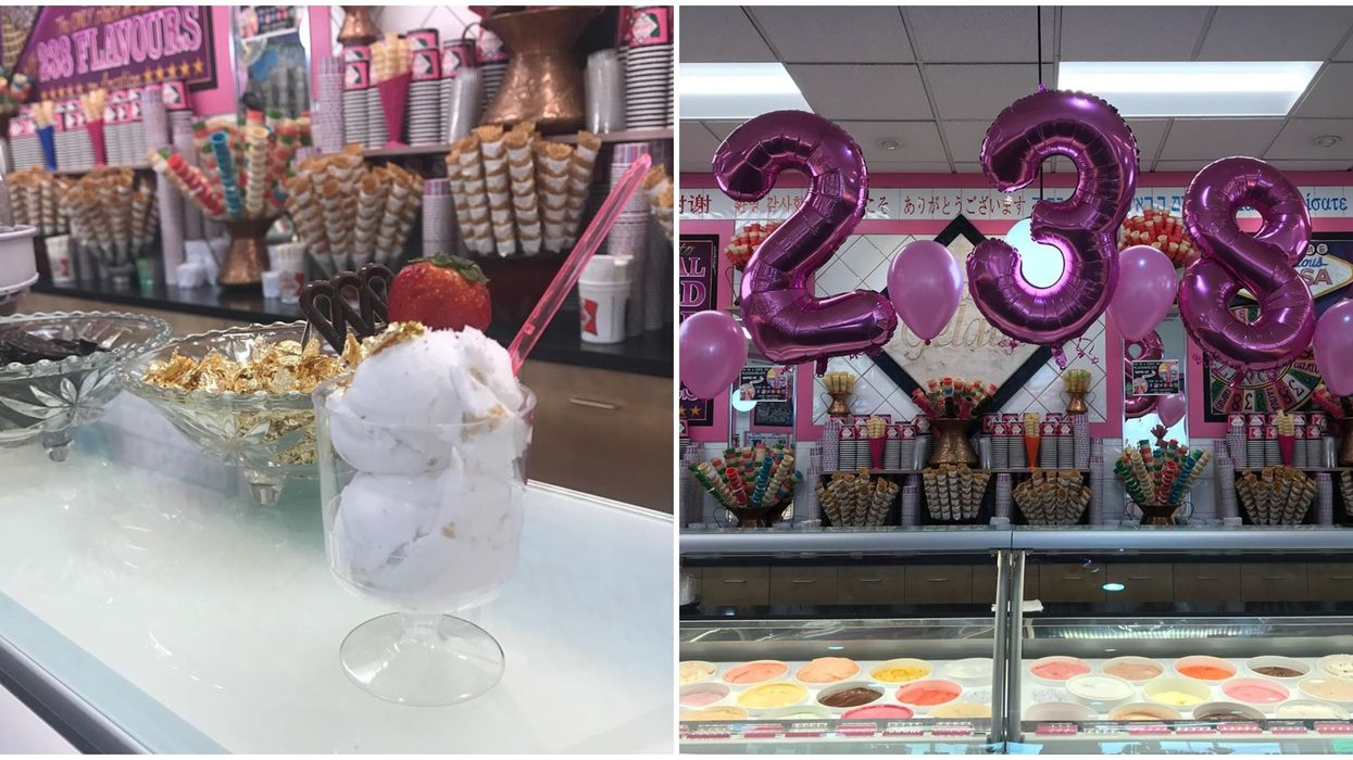 Dom Perignon & 24-Karat Gold Ice Cream Flavour Is Served At An All-Pink Spot In BC