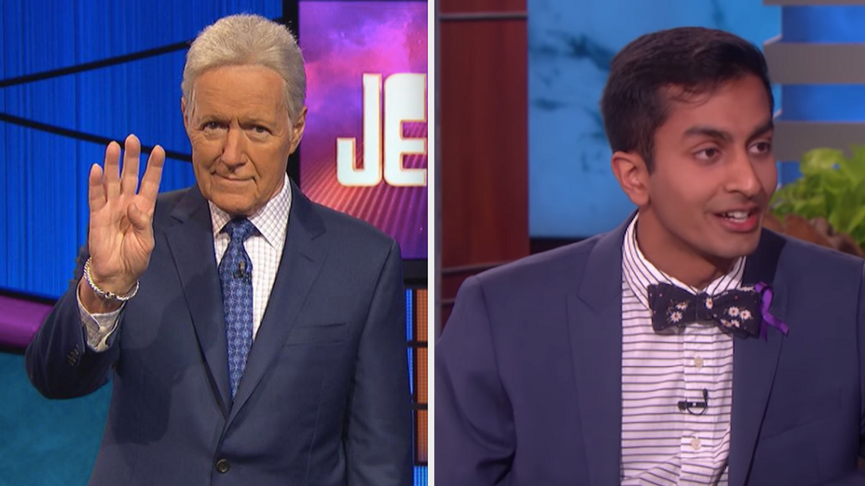 """Earlier this week, the internet united together over the incredibly emotional moment on a recent episode ofJeopardy.A contestant, named Dhruv Gaur, opted to send host Alex Trebek a message of love instead of the correct answer in the """"Final Jeopardy"""" round. The moment gained immediate attention on social media and even landed Gaur as an interviewee on The Ellen DeGeneres Show a few days later. Since then, the conversation around cancer research has also increased. And Alex Trebek donated $10 million to the University of Ottawa and had even more tributes in his honour for cancer research organizations."""
