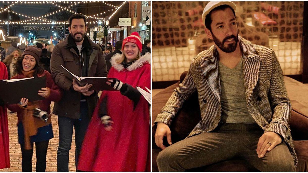 Drew Scott Visited Toronto's Distillery District Christmas Market & Got Into The Holiday Spirit