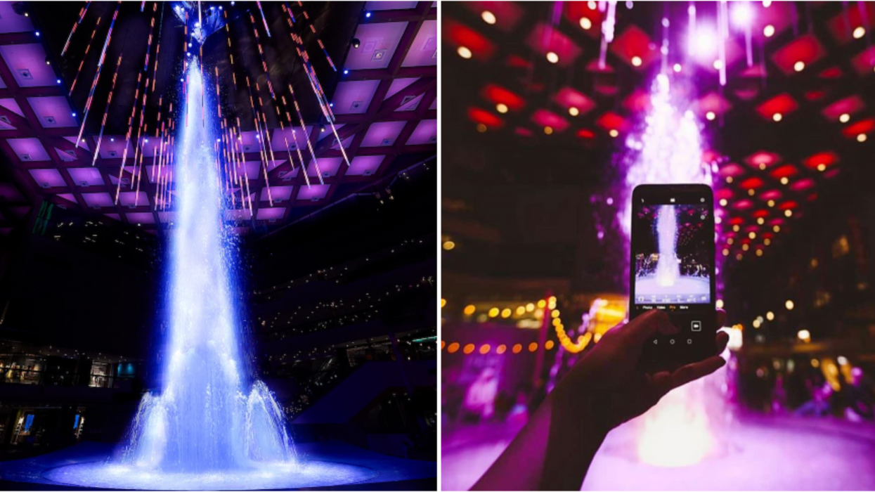Ce spectacle de fontaines de Noël magique et gratuit aura lieu pendant un mois à Montréal