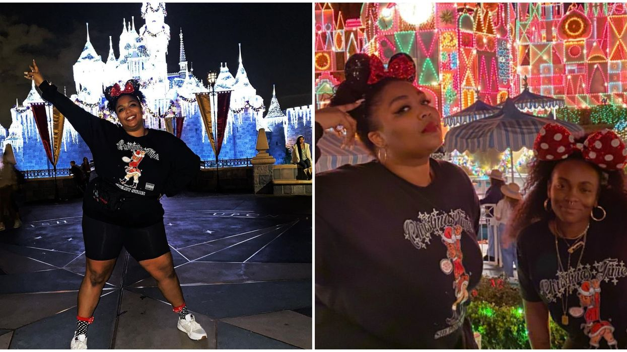 Lizzo Celebrated Her Sister's Birthday At Disneyland And Had A Blast On Space Mountain