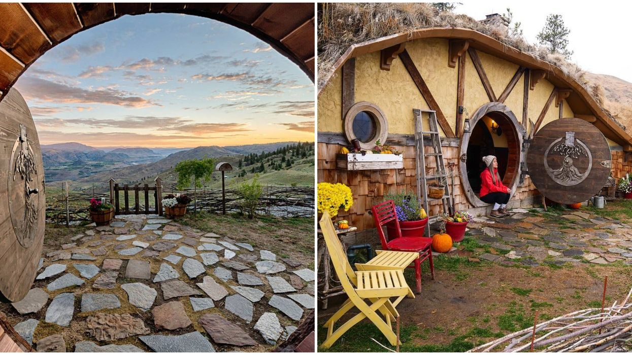 """You Can Stay At A Magical """"Hobbit"""" Airbnb Overlooking The Mountains In Washington"""