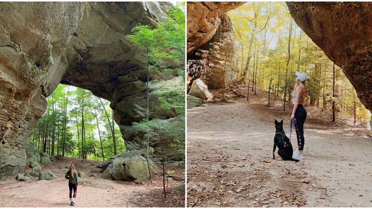 This Moderate Hike In Tennessee Has Huge Rock Formations And Scenic Views
