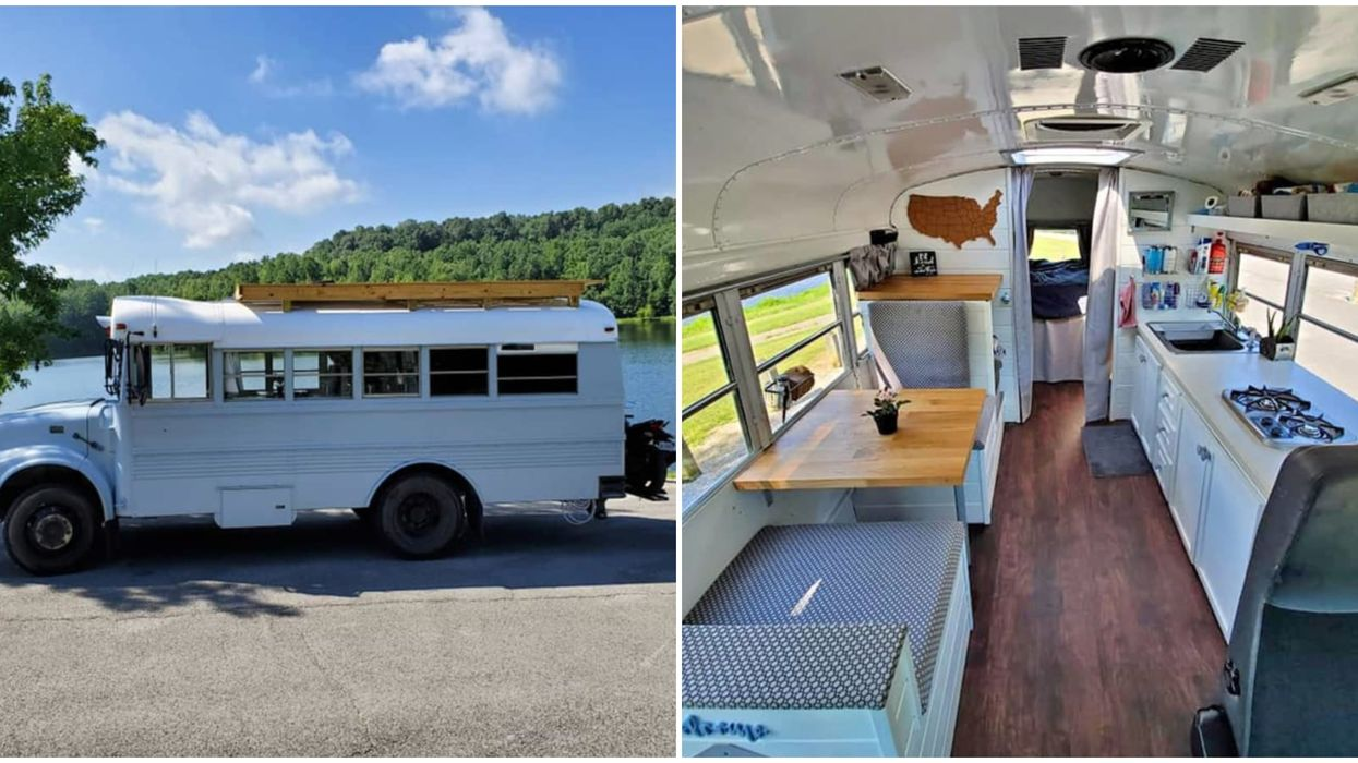 This School Bus Turned Tiny House In Georgia Is Actually Super Affordable