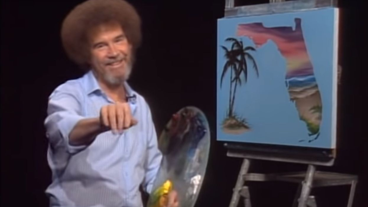 29 Years Ago Today Bob Ross Painted Florida & It's The Happiest Little Memory