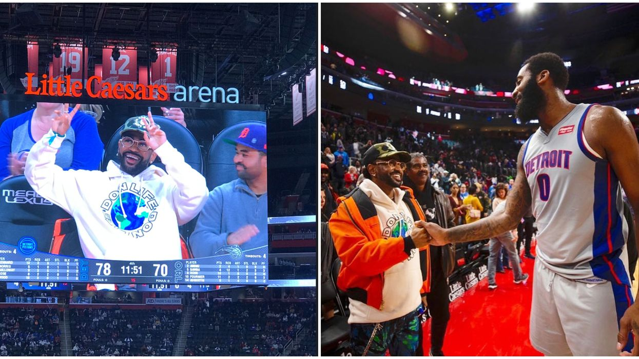 Detroit Native Big Sean Spotted At The Pistons Game Last Night