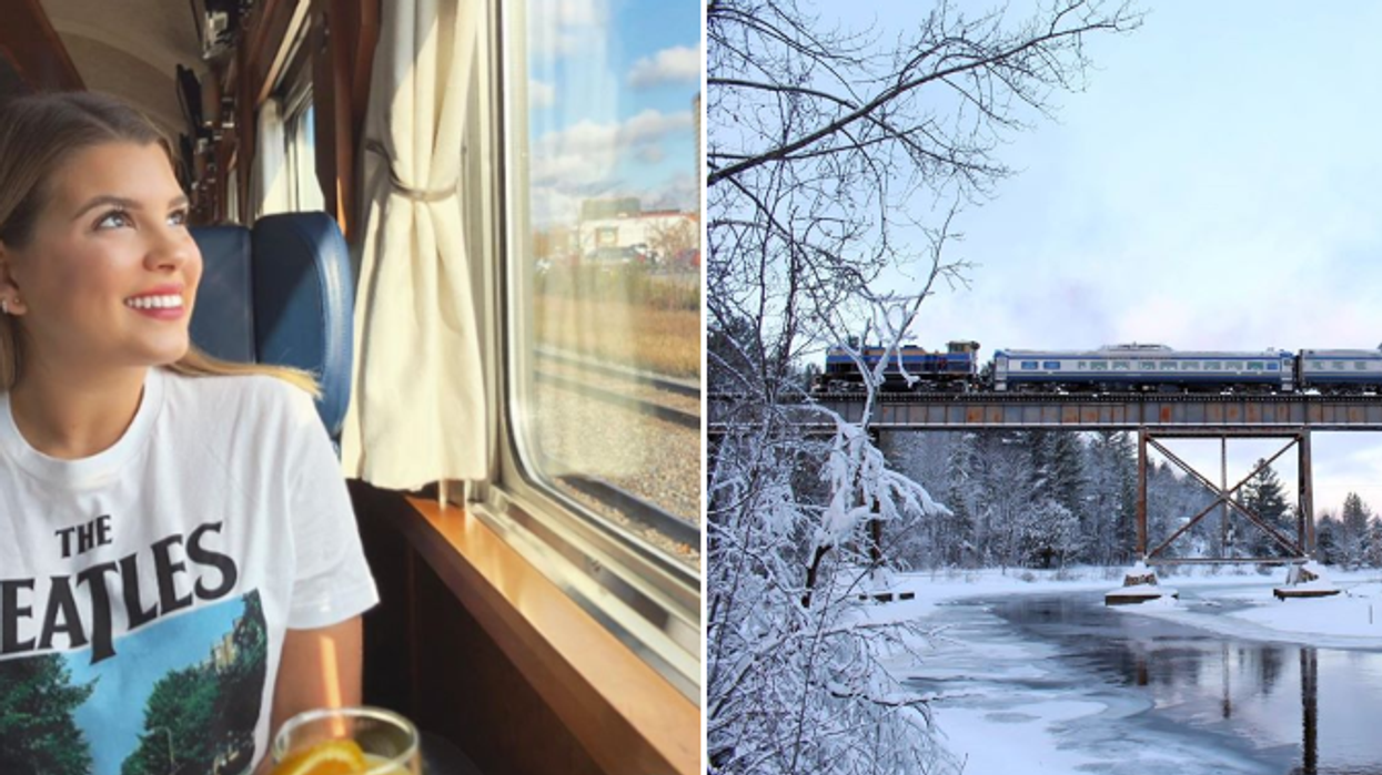 Tu peux voyager dans ce train de Noël complètement féerique à 1h30 de Montréal