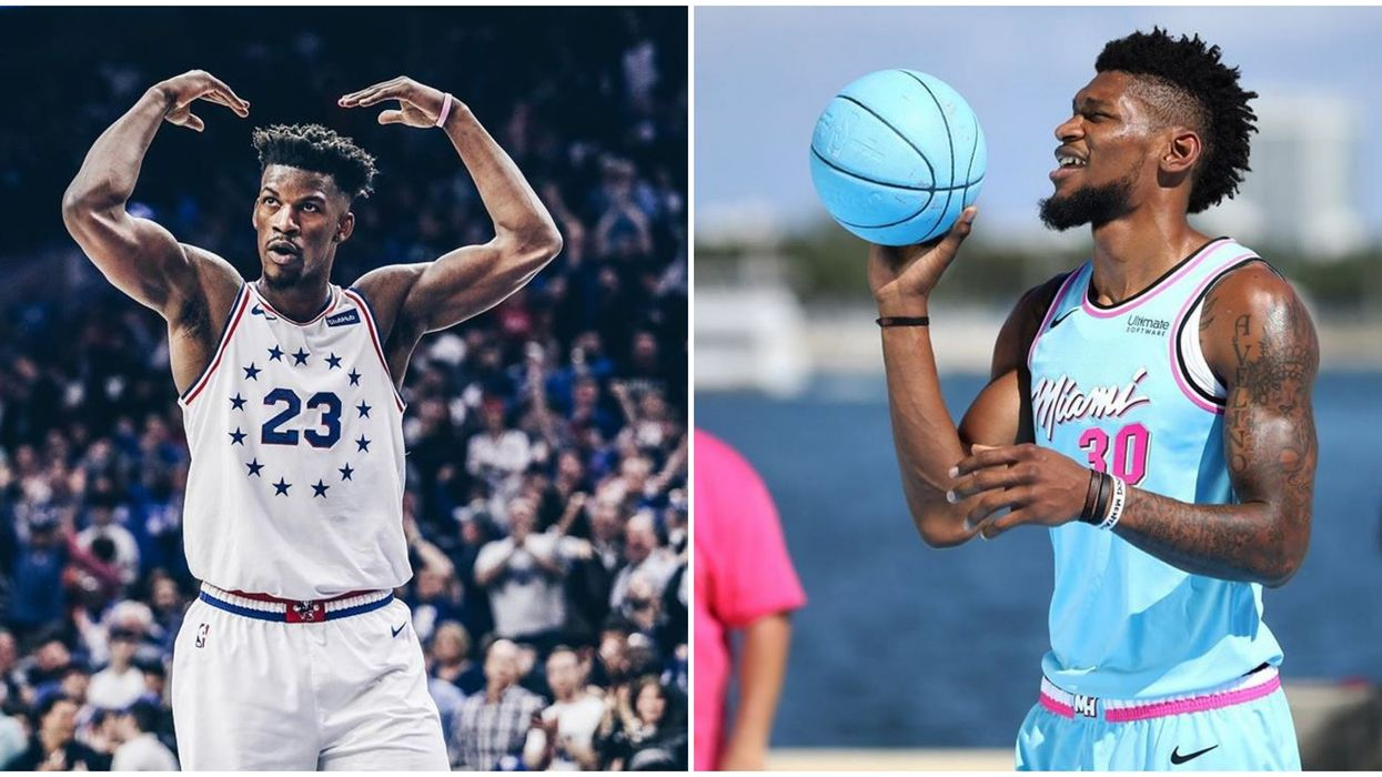 Miami Heat Players Jimmy Butler & Chris Silva Made Up A Fun New Game