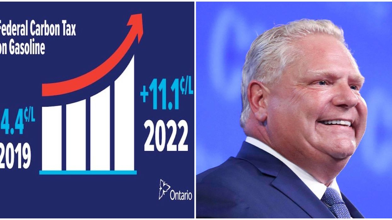 Doug Ford's Gas Station Stickers Are Facing A Court Battle & Ontarians Are Loving It