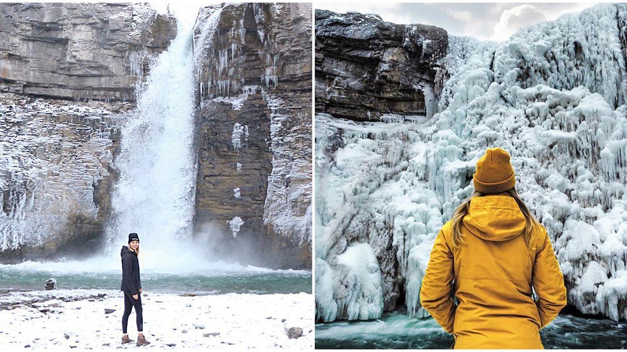 frozen waterfall alberta