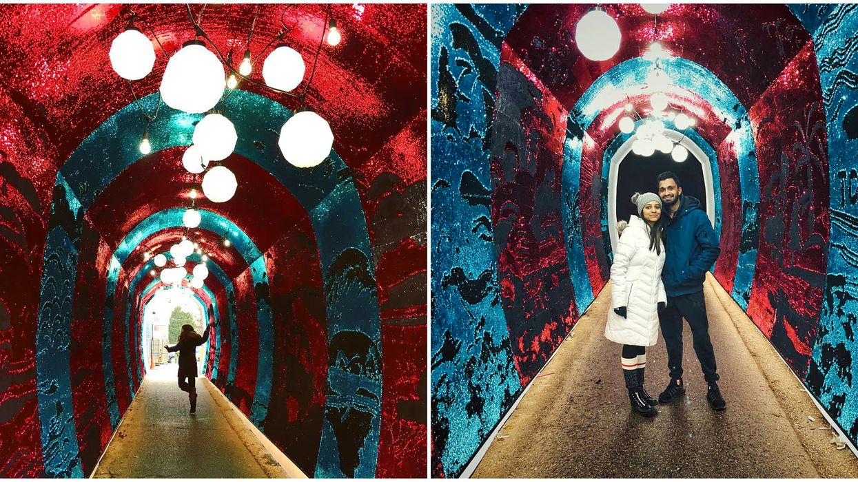 Toronto's Tunnel Of Glam Is A Romantic Tunnel Of Sequins You Need To Check Out This Winter