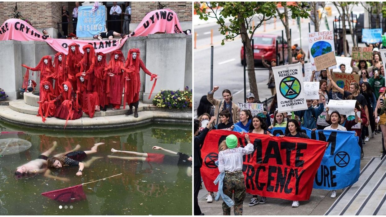 """Vancouver Climate Protest Stops Traffic To Stage A """"Funeral"""" For The Dying Planet (VIDEO)"""